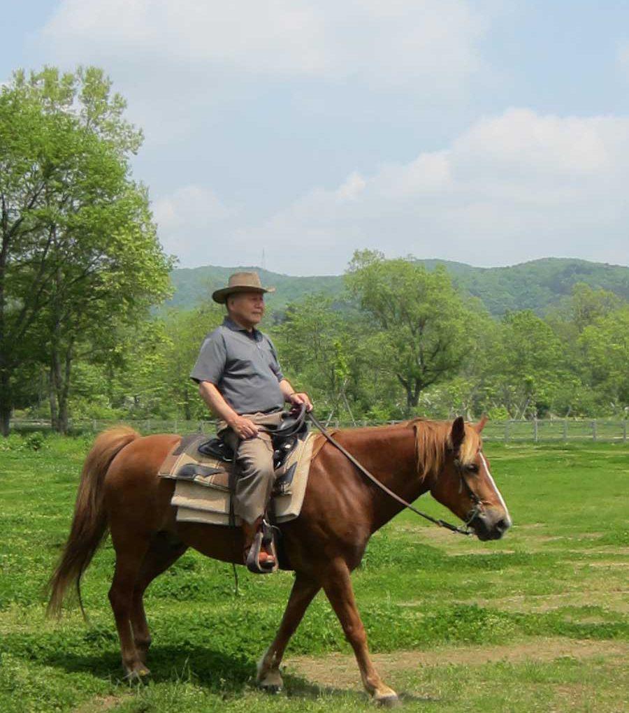 蔵王で乗馬を